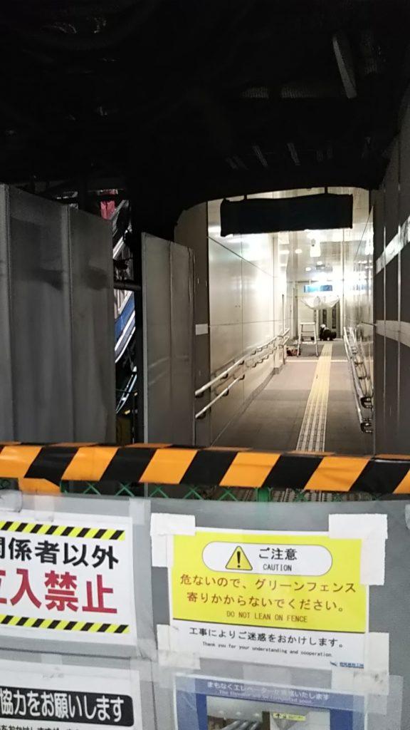 永田町駅 エレベーター工事は、当初の予定より遅れていました