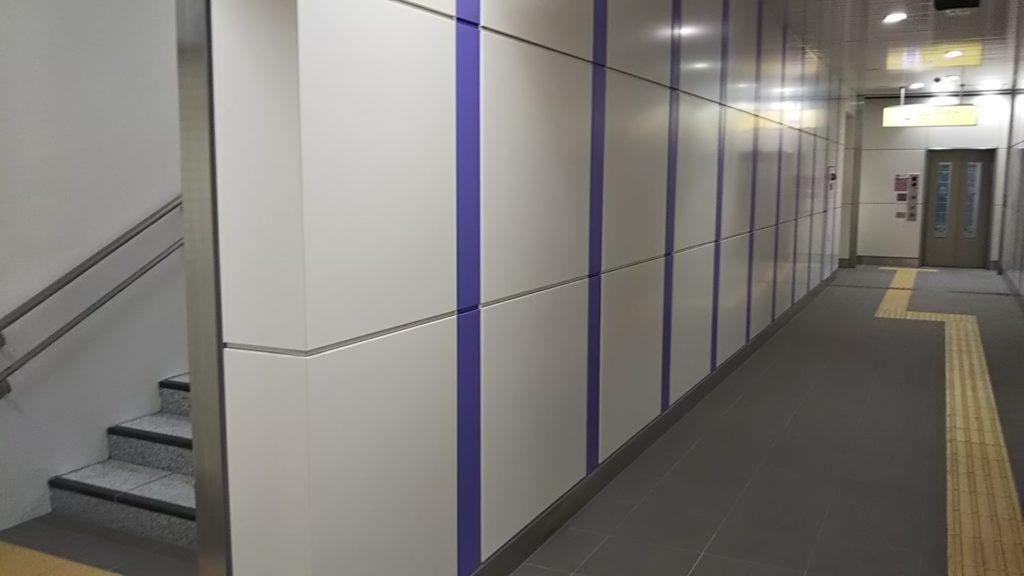 永田町駅 エレベーターの隣には階段も開通しました