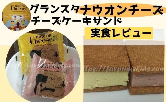 グランスタ東京のナウオンチーズの実食レビュー★チーズケーキサンド