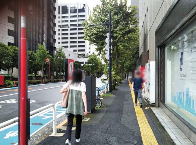 内幸町駅から日比谷okurojiオクロジまでのアクセス・ルート