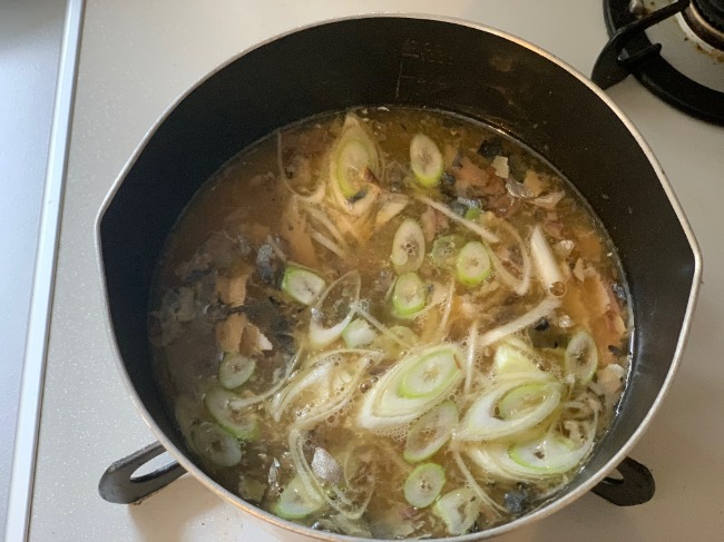 リュウジさんのレシピ『鯖缶の即席あら汁』を作ってみた♪手順は味噌汁と一緒!