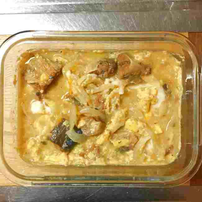 山本ゆりさんのサバ缶でつくる他人丼 レシピ・作り方